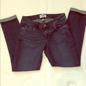 Paige sz 25 cuffed jeans